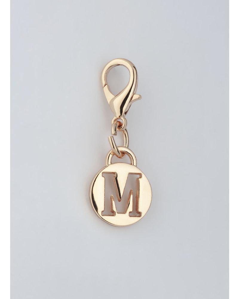 MADISON LETTER CHARM M - LT GOLD