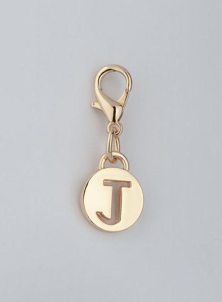 MADISON LETTER CHARM J - LT GOLD