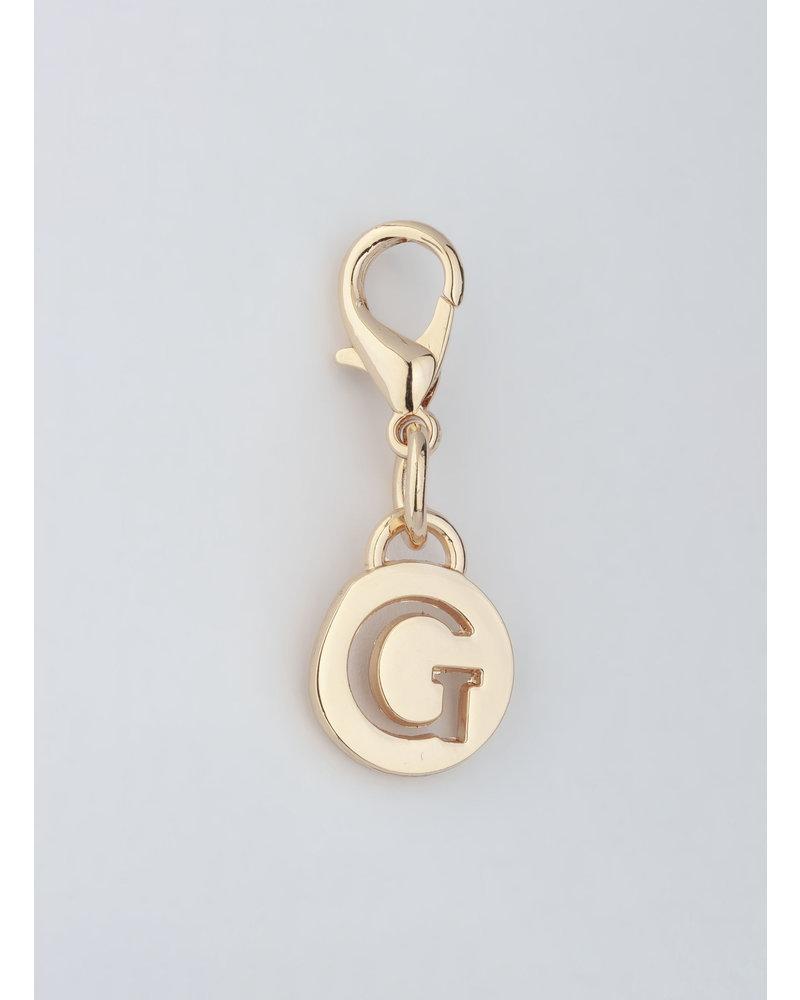 MADISON Letter Charm G - Lt Gold