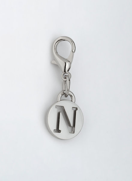 MADISON LETTER CHARM N - SILVER