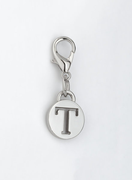MADISON LETTER CHARM T - SILVER