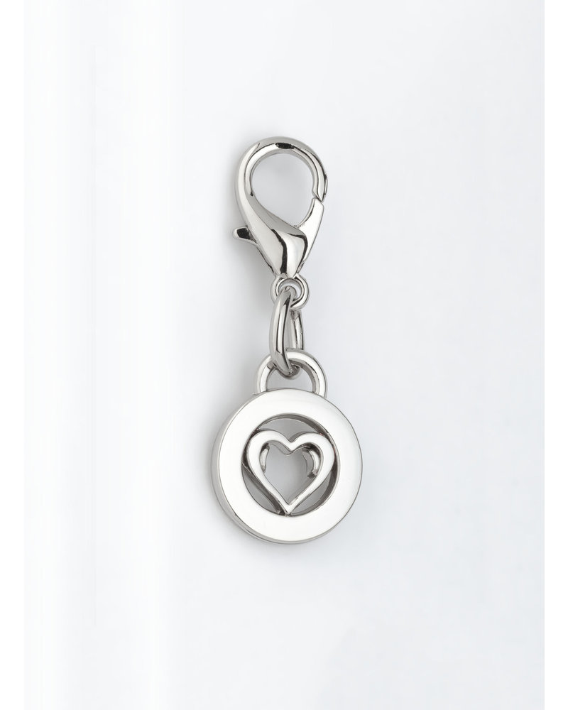 MADISON Heart Charm - Silver