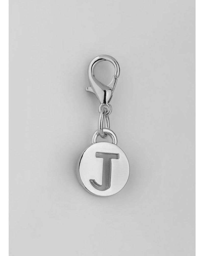 MADISON Letter Charm J - Silver