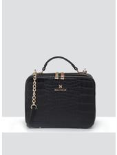 MADISON Isla Top Handle Crossbody Box Bag - Black Croc