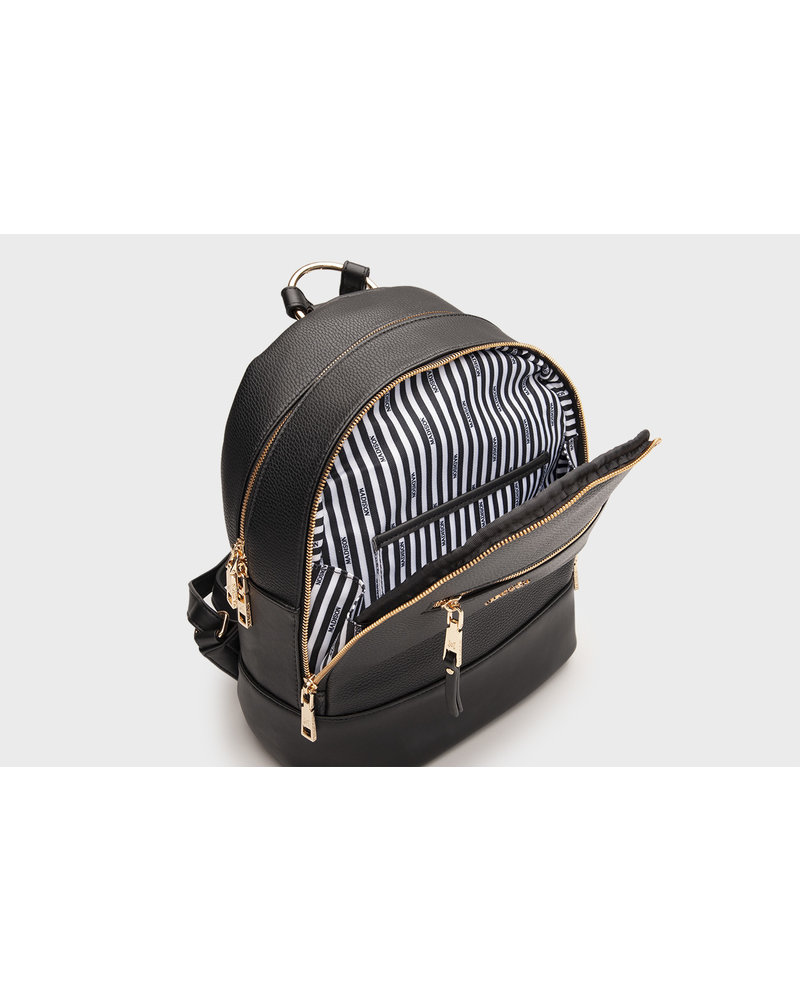 MADISON LIBBY ZIP TOP BACKPACK - BLACK