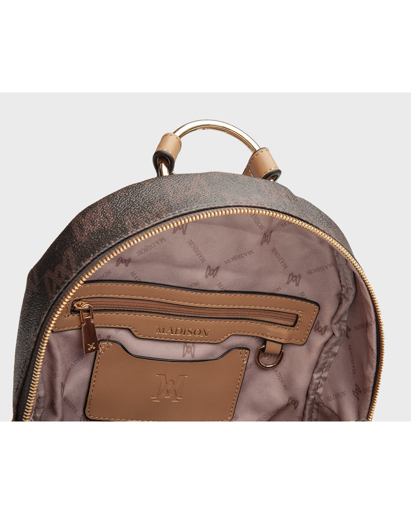 MADISON Libby Zip Top Backpack - Choc MA