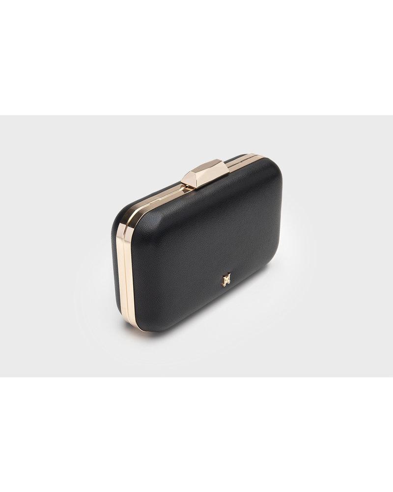 MADISON ABBI LARGE BOX MINAUDIERE - BLACK