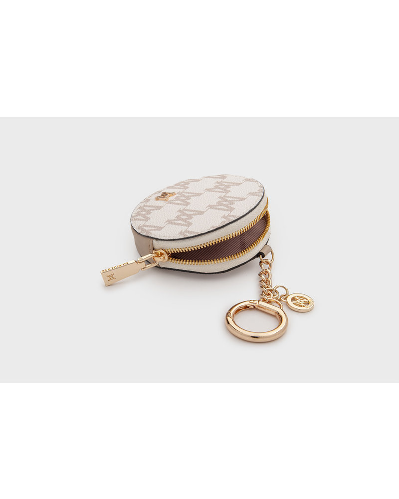 MADISON Lottie Circle Coin Case Clip on - Choc MA