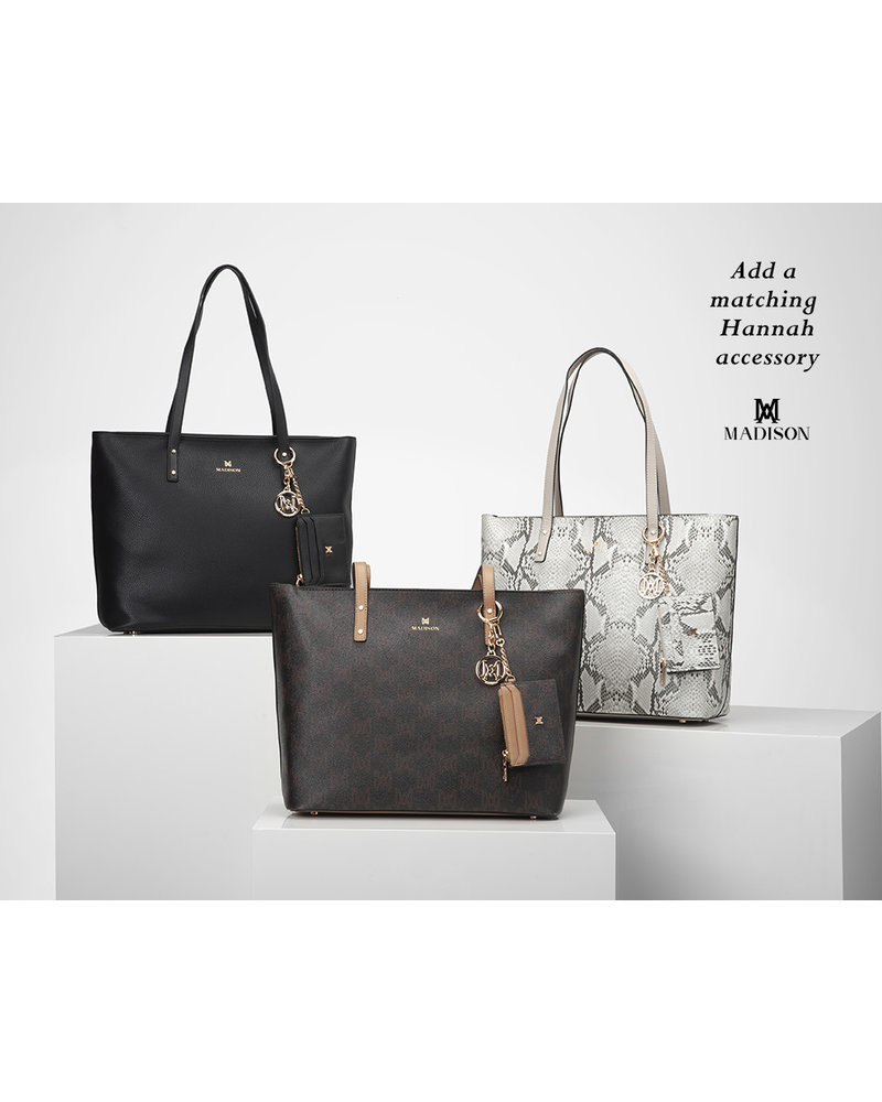 MADISON Evelyn Unlined Shopper Tote - Black