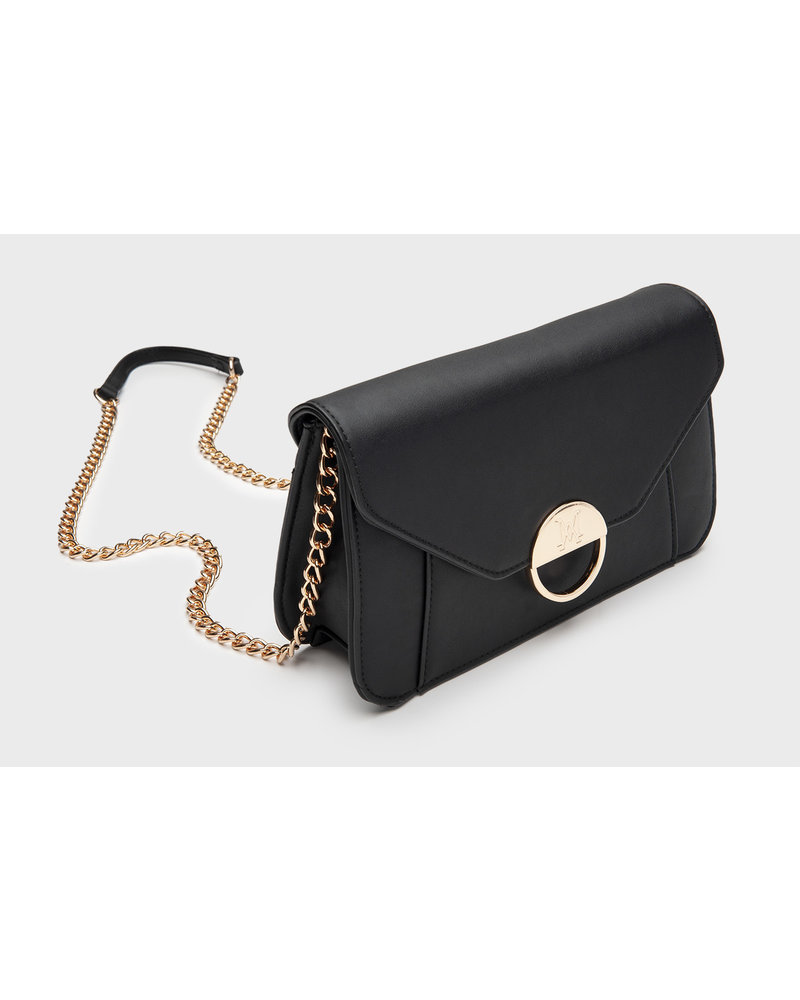 MADISON Lucy Flap Over Clutch - Black