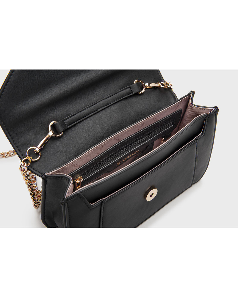 MADISON LUCY FLAP OVER CLUTCH - ROSE GOLD