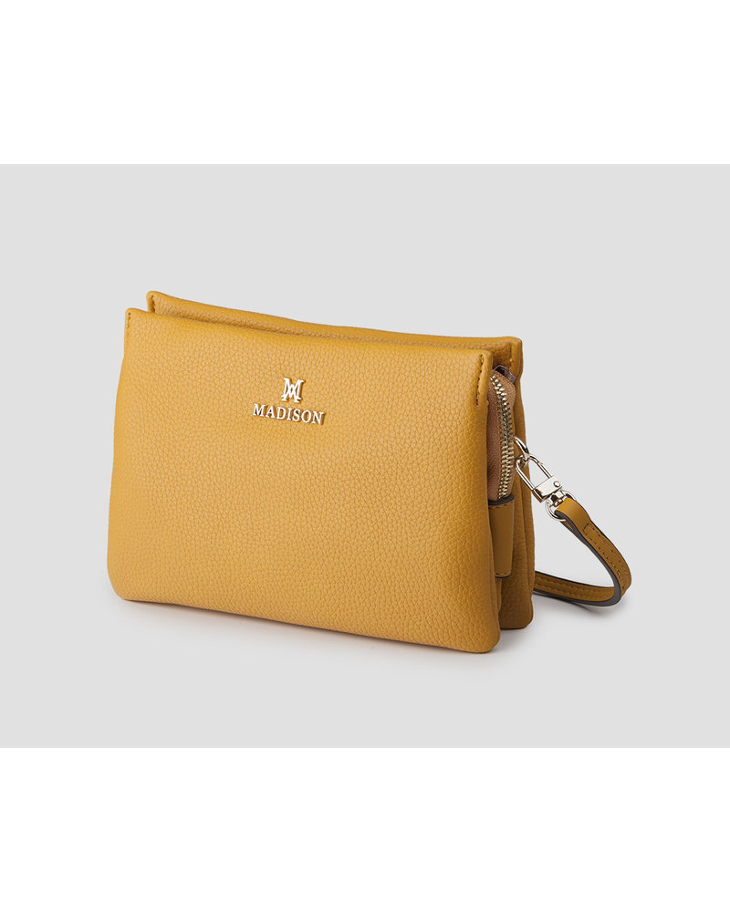MADISON Jane Mini 3 Compartment W/Wristlet & Crossbody - Yellow