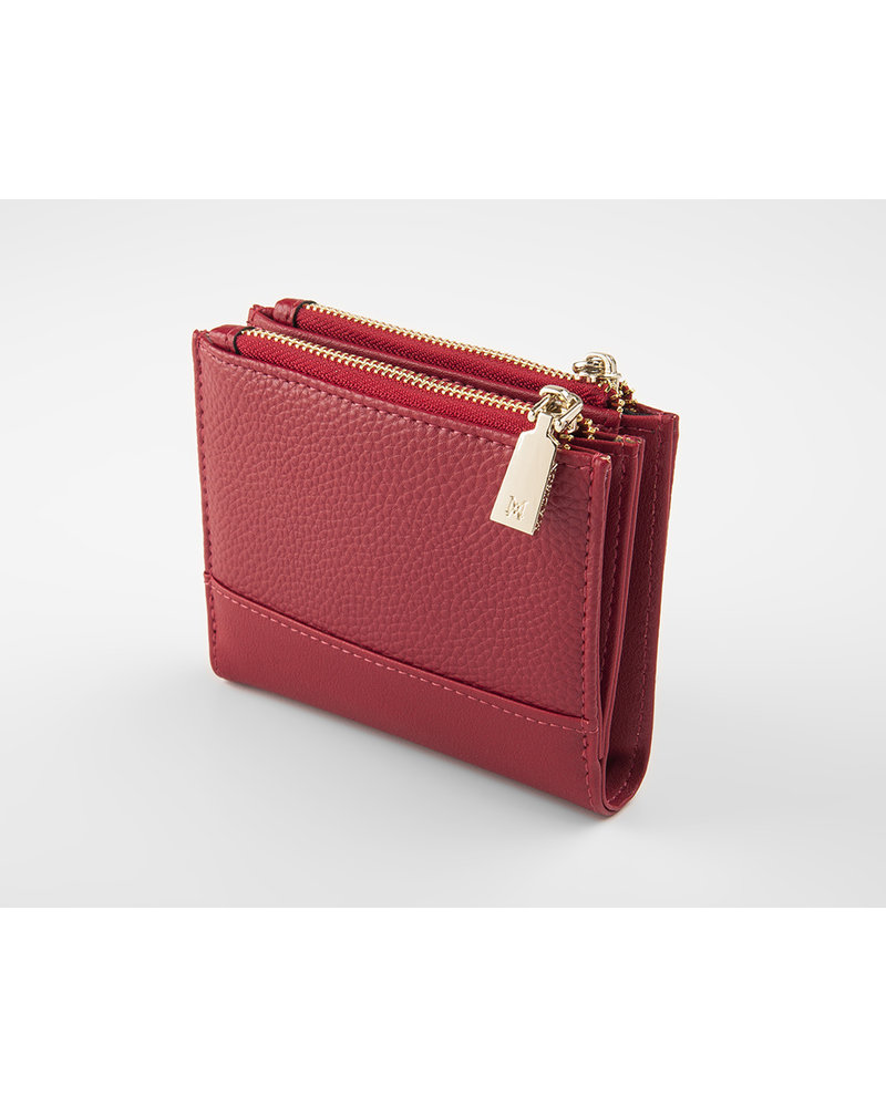 MADISON Arabella Small Double Zip Pocket Wallet - Red