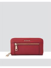 MADISON Abigail Ziparound Open Clutch Wallet - Red