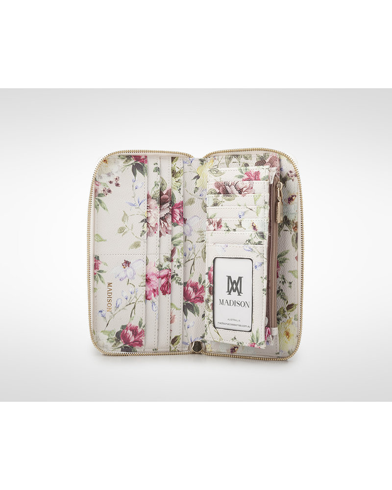 MADISON Abigail Ziparound Open Clutch Wallet - Botanic Floral