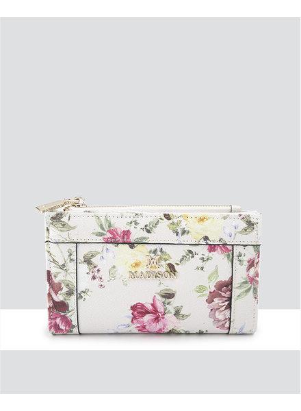 MADISON Lexi Medium Bifold Zip Wallet - Botanic Floral