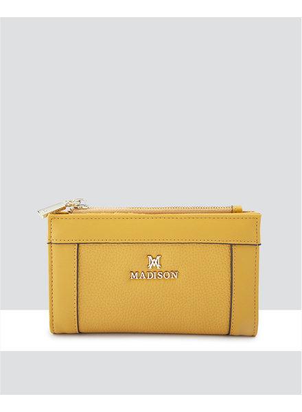 MADISON Lexi Medium Bifold Zip Wallet - Yellow