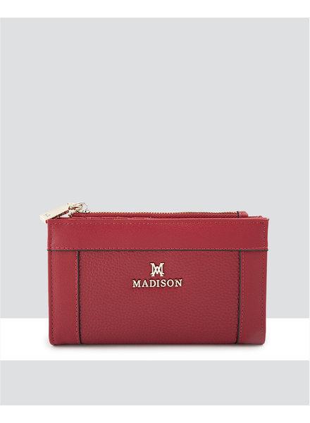MADISON Lexi Medium Bifold Zip Wallet - Red