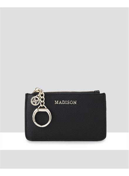 MADISON Vivienne Zip Purse w/ Card Slots - Black