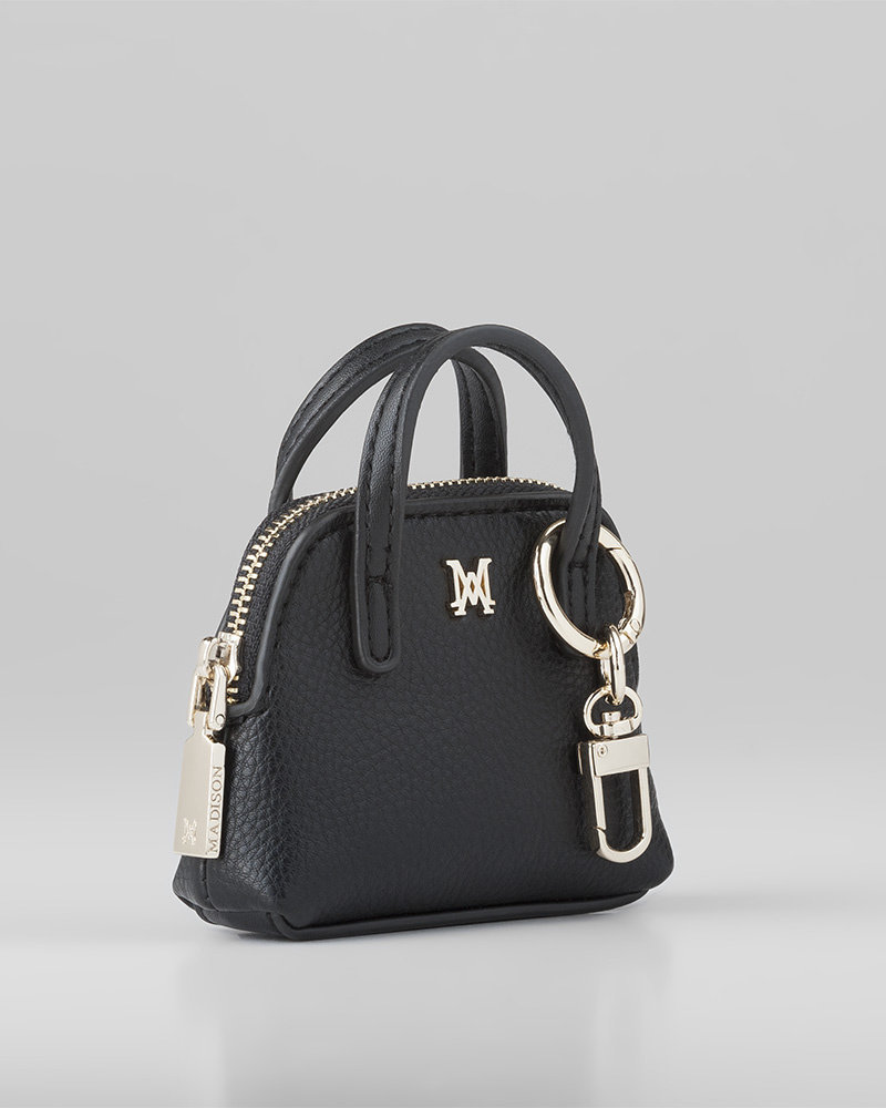 MADISON MALA MINI SATCHEL COIN PURSE -   BLACK