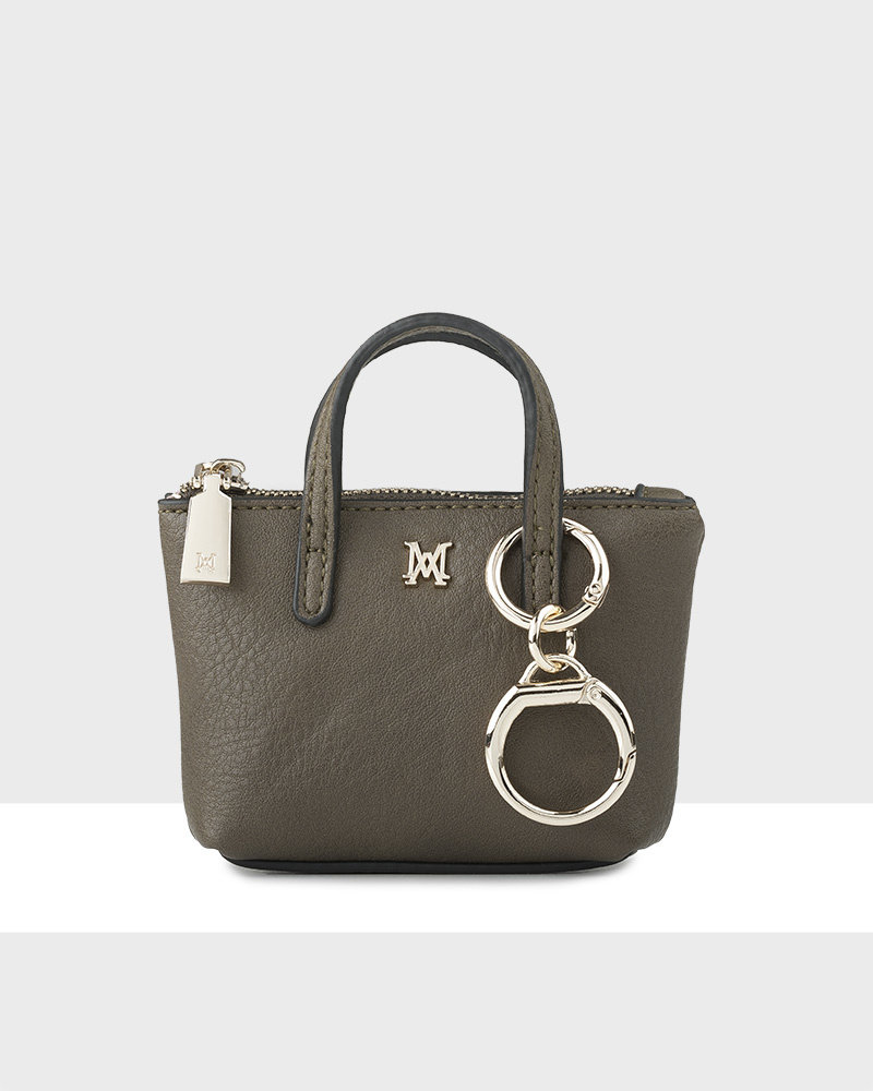 MADISON MILLIE MINI TOTE COIN PURSE - OLIVE GREEN