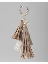 MADISON Rebecca 4 Tassel Key Chain - Blush/Taupe Stone