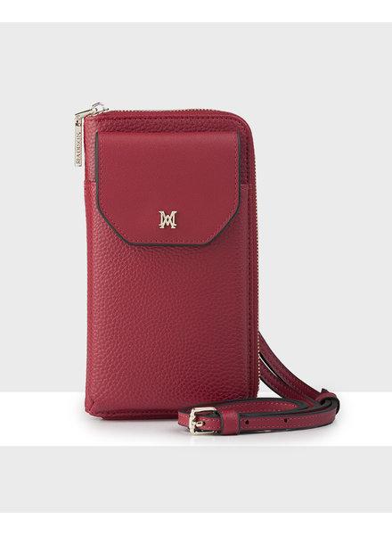 MADISON Hallie Large Tech Wallet Sling - Red