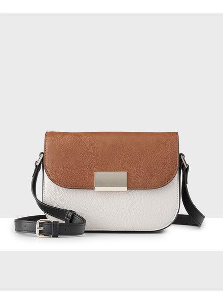 MADISON Mel 3 Compartment Saddle Bag - Stone / Tan / Black