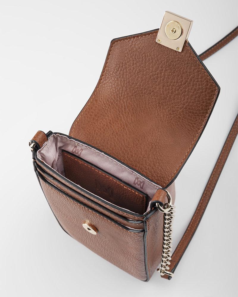 MADISON Lia Flapover Phone Bag Mini Tech Crossbody - Yellow
