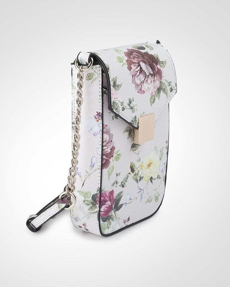 MADISON Lia Flapover Phone Bag Mini Tech Crossbody - Botanic Floral