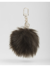 MADISON Holly Fur Pom Pom Clip on - Olive Green
