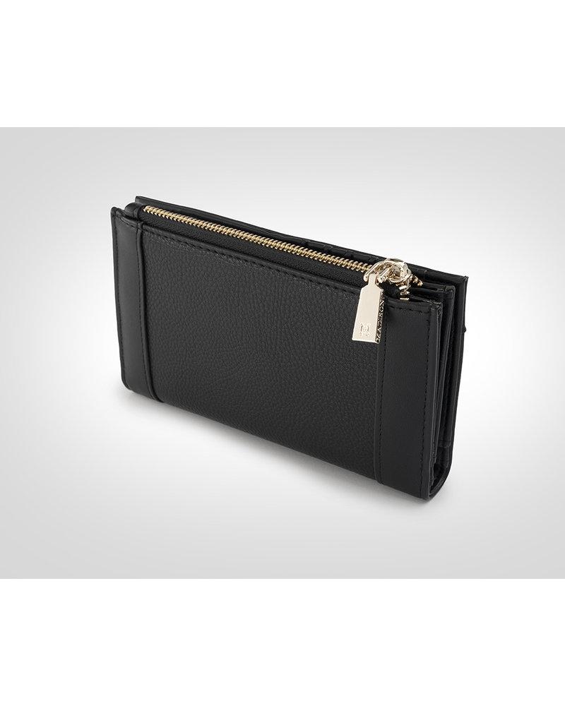 MADISON Lexi Medium Bi Fold Zip Wallet - Black