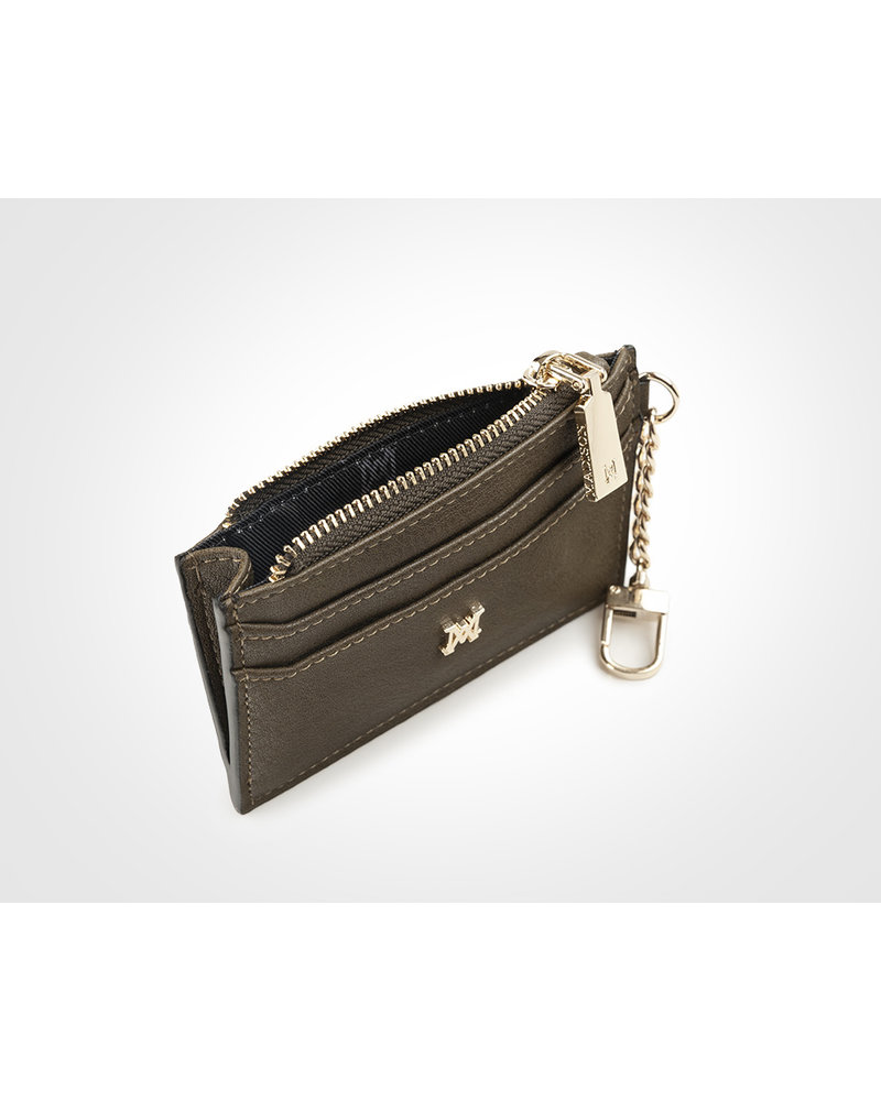 MADISON Hannah Zip Card Case - Olive Green