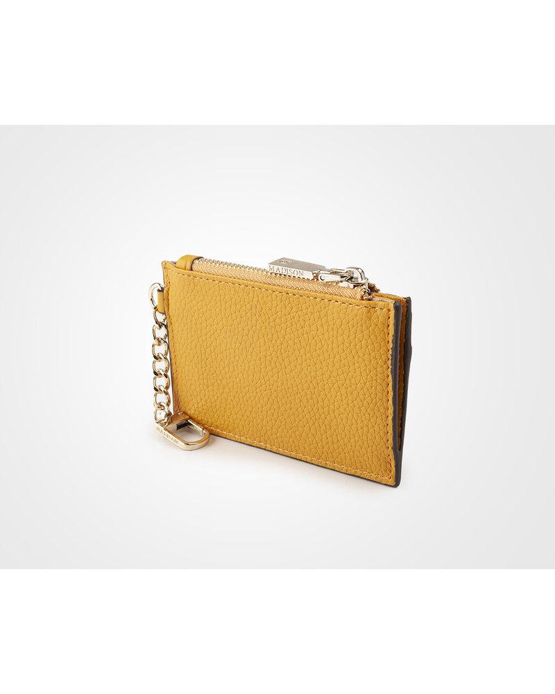 MADISON Hannah Zip Card Case - Yellow