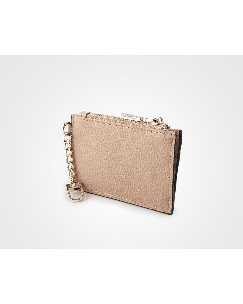 MADISON Hannah Zip Card Case - Dusty Blush