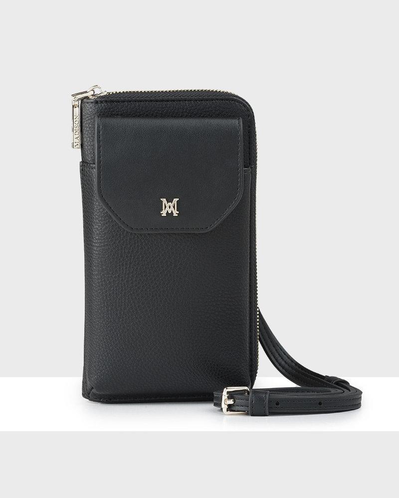 MADISON Hallie Large Tech Wallet Sling - Black