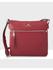 MADISON Renee N/S 2 Compartment Crossbody - Red
