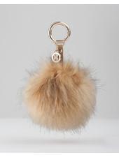 MADISON Megan Large Fur Pom Pom Clip on - Brown