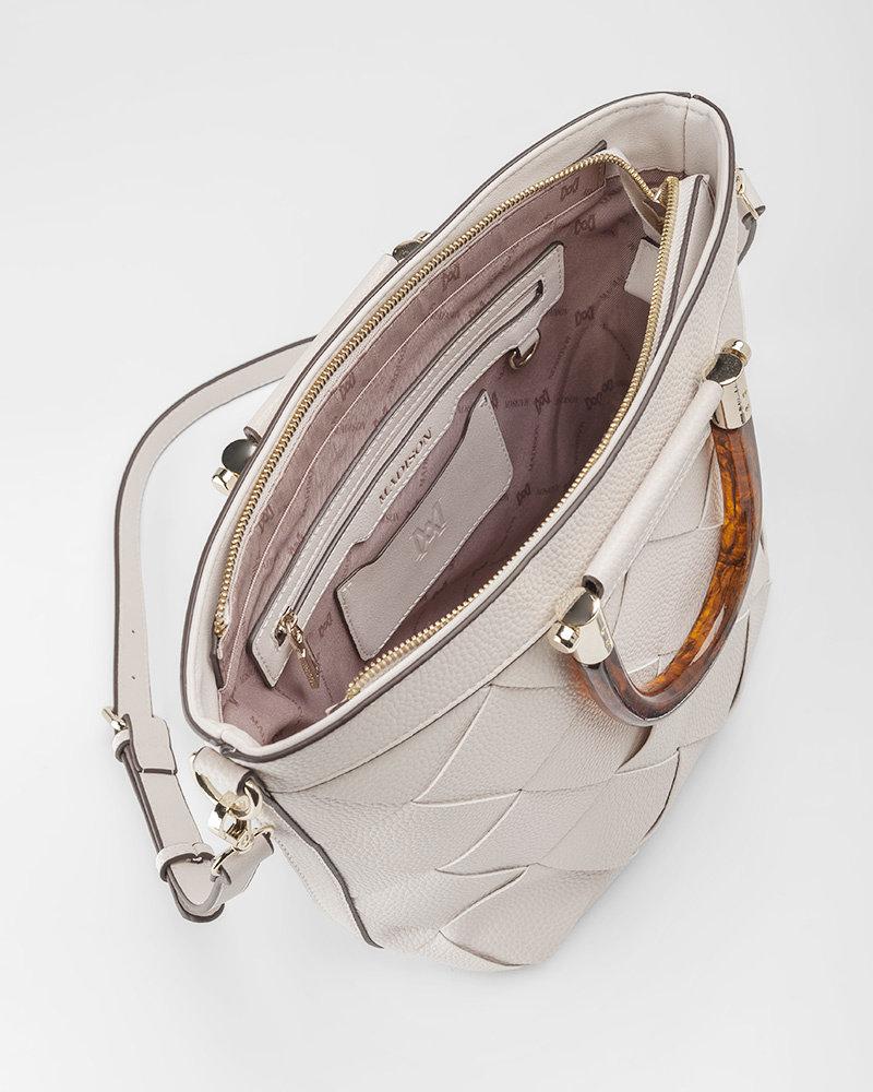 MADISON Lucinda Tortoise Shell Handle Bucket Bag - Stone