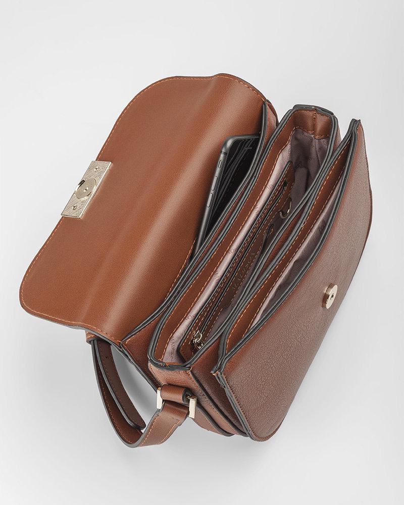MADISON Mel 3 Compartment Saddle Bag - Dk Tan