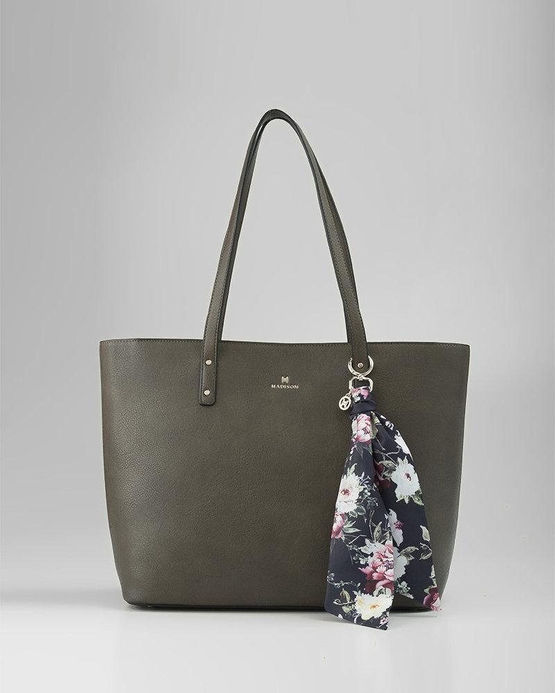 MADISON Nelly Scarf - Black Botanic Floral