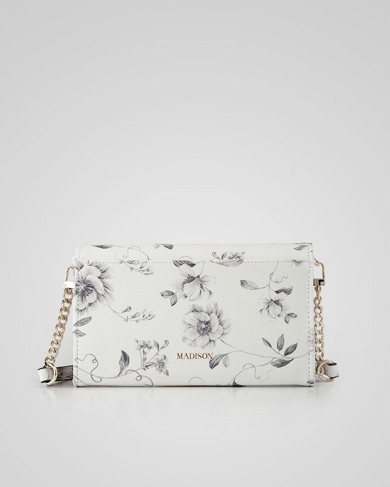 MADISON Jennifer E/W Wallet & Bag Convertible - Monochrome Floral
