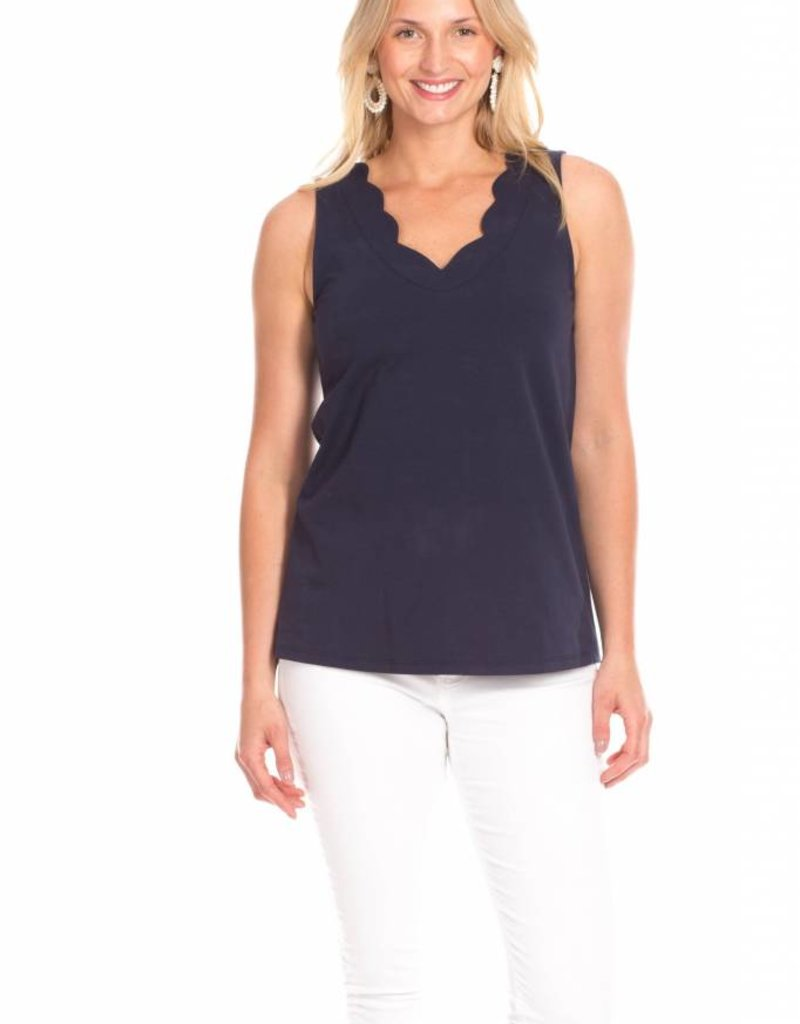 Duffield Lane Scallop Tank Top