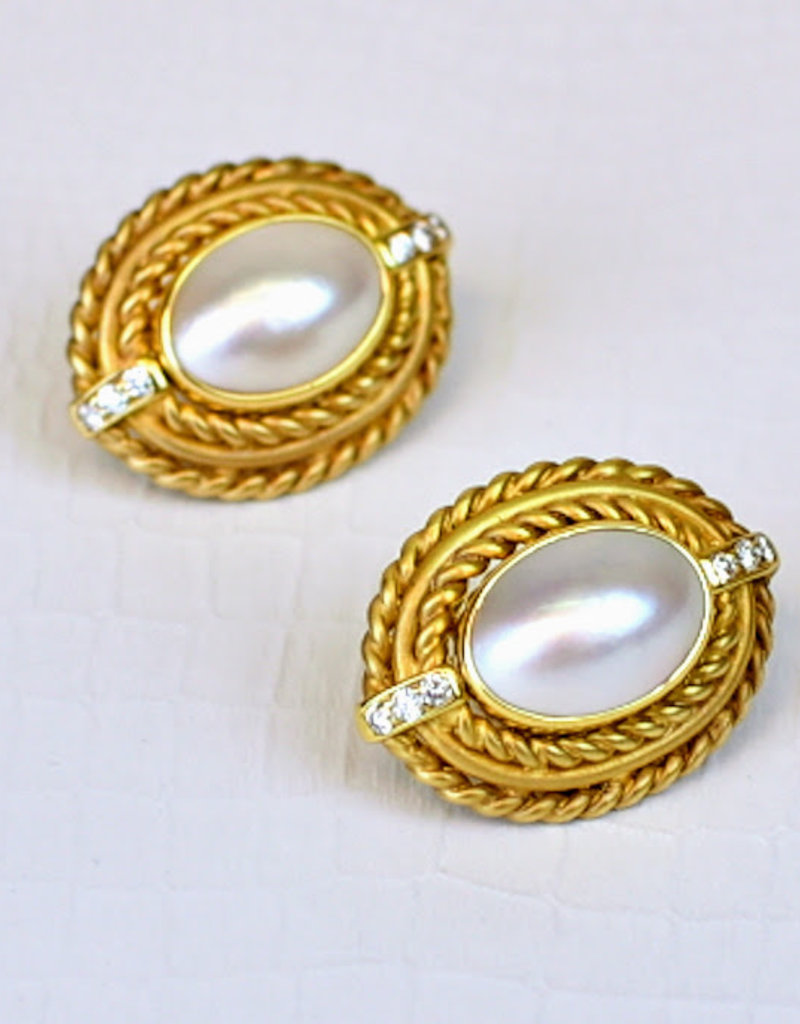 Mazza OVAL MOBE .24CT. 14KT GOLD