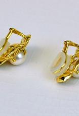 Mazza Gold Flower ear w/PEARL 14K clip