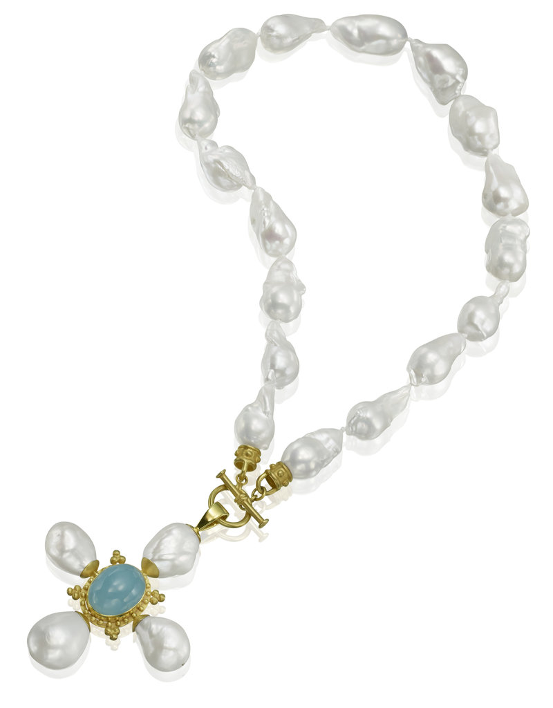 Mazza Large Freshwater Baroque Pearl Necklace w/ Screws