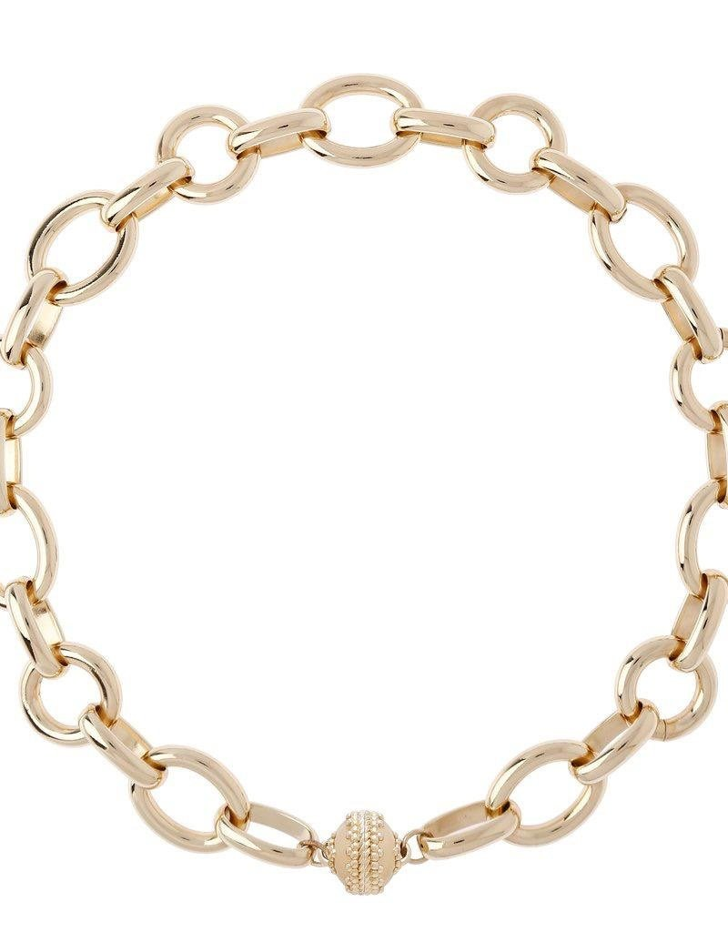 "CWC Jewelry ""Gold Coast"" 14K Plated Chain Necklace"