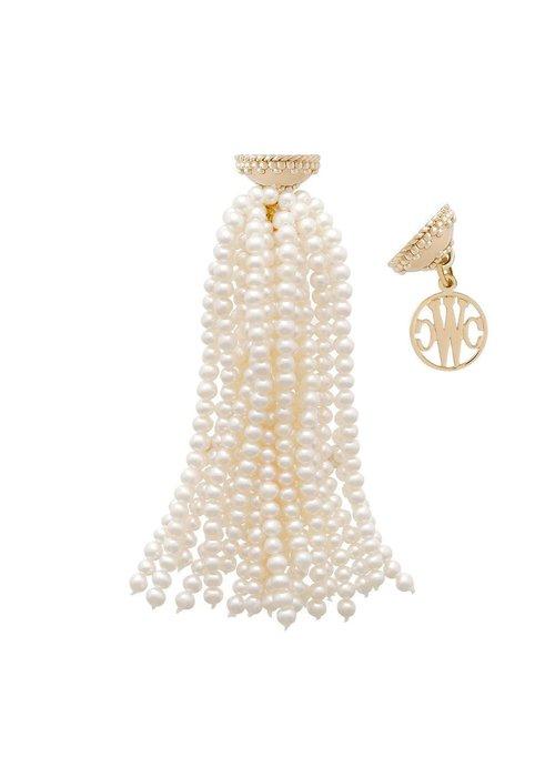 CWC Jewelry Freshwater White Pearl Tassel