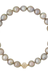 CWC Jewelry Freshwater Gray Baroque Pearl Necklace