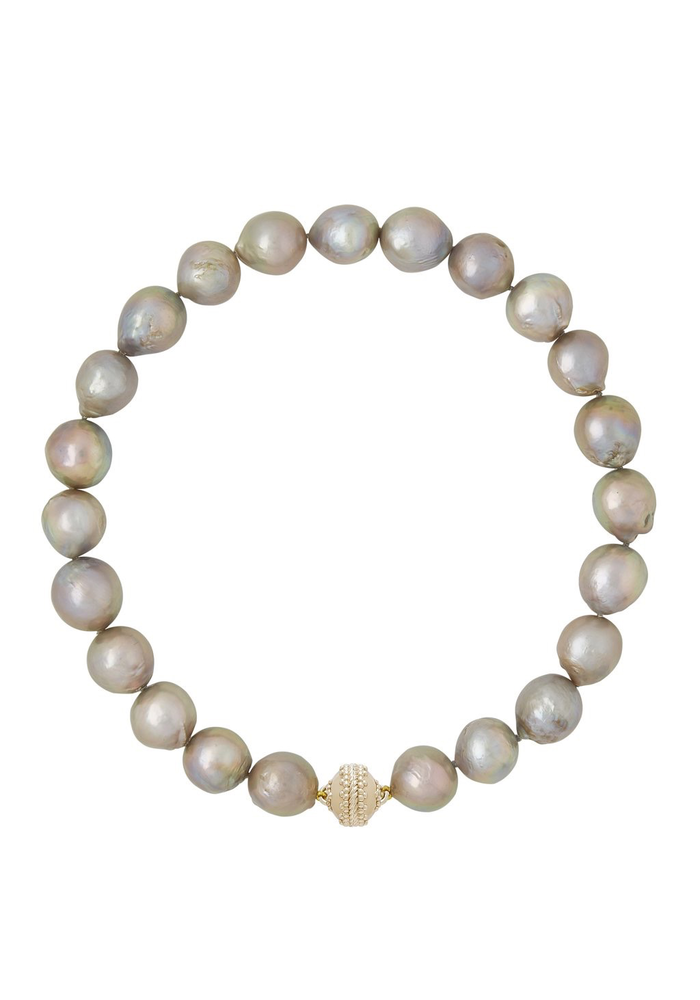 Freshwater Gray Baroque Pearl Necklace